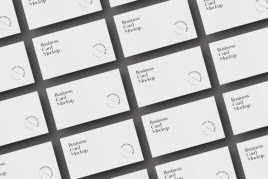 Free Download Business Cards Mockup PSD