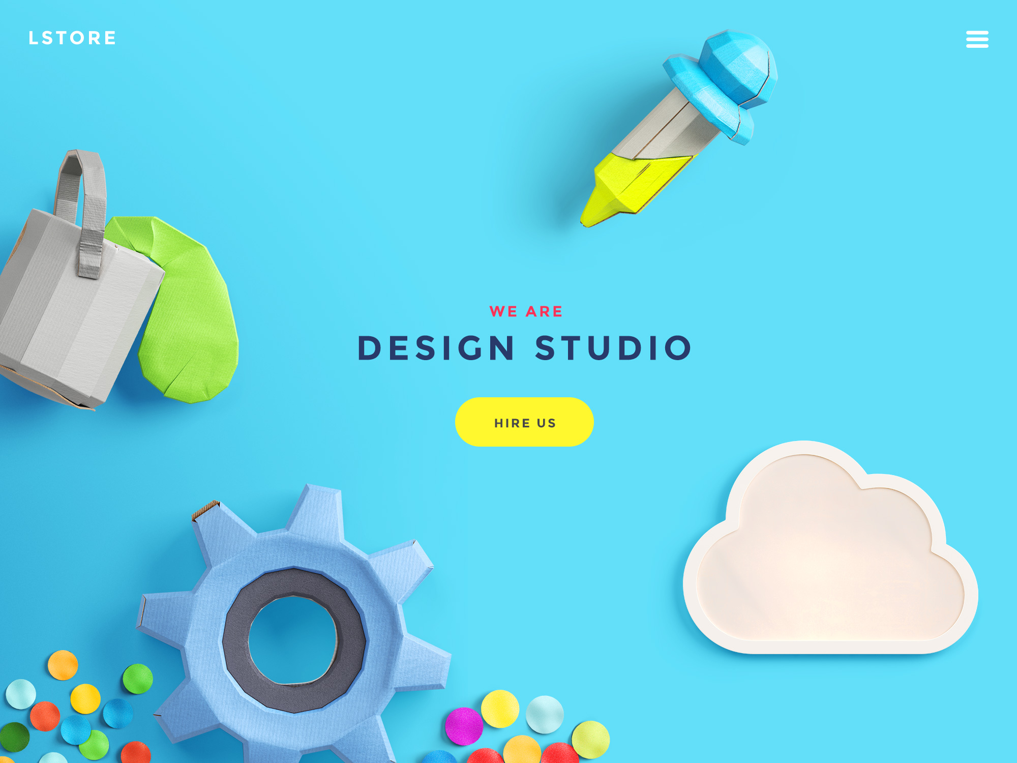 Free Download Colorful Web Header Image PSD