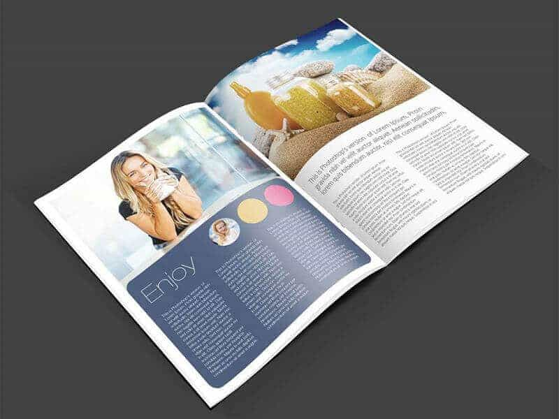 Free Download Complete Magazine Page Mockup PSD