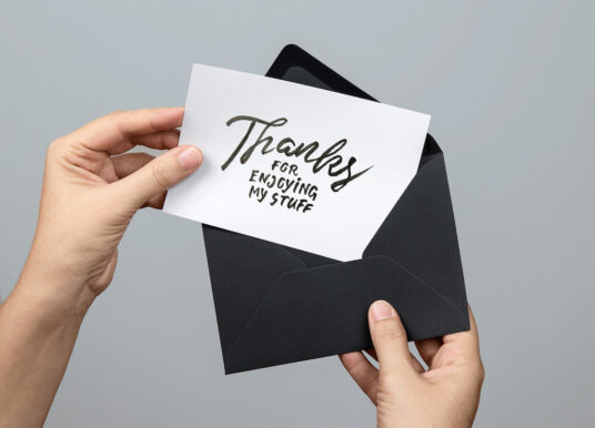 Free Download Envelope with Greeting Card Mockup PSD