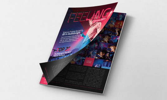Free Download First Page Cover Magazine Mockup PSD
