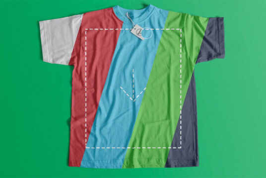 Free Download Flat Changeable Color T-shirt Mockup PSD