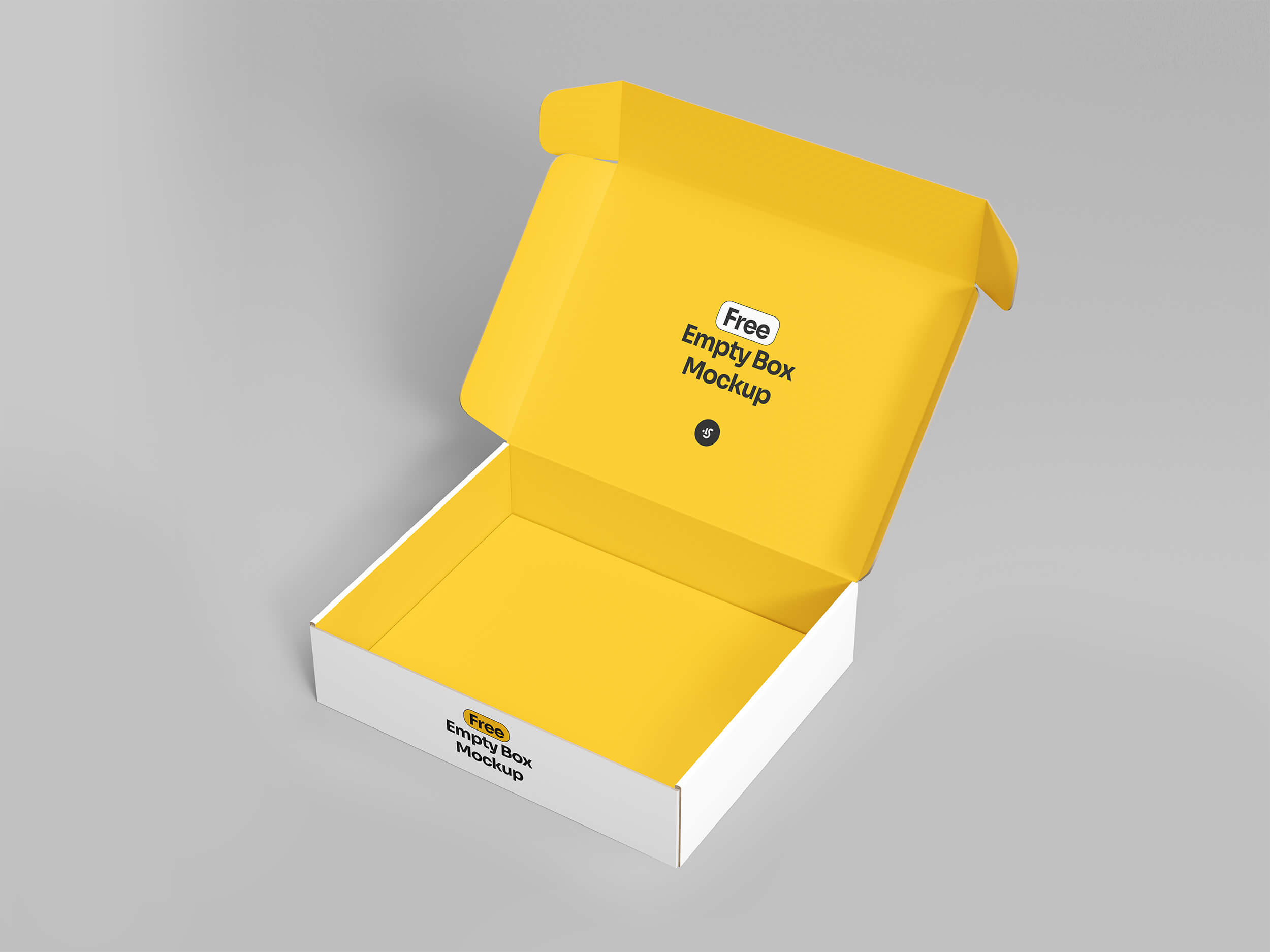 Free Download Openned Box Packaging Mockup PSD