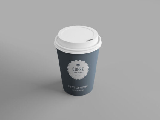 Free Download Paper Cup Coffe Mockup PSD