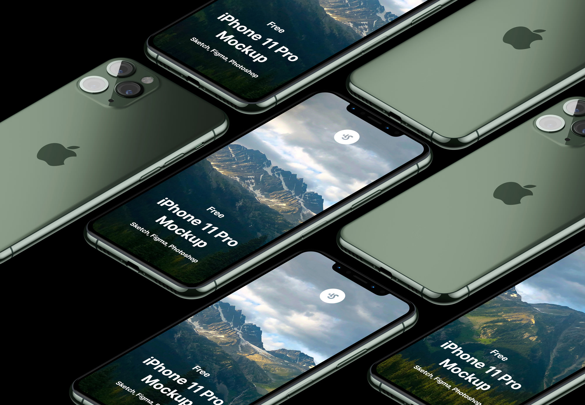 Free Download Realistic iPhone 11 Pro Max Mock PSD