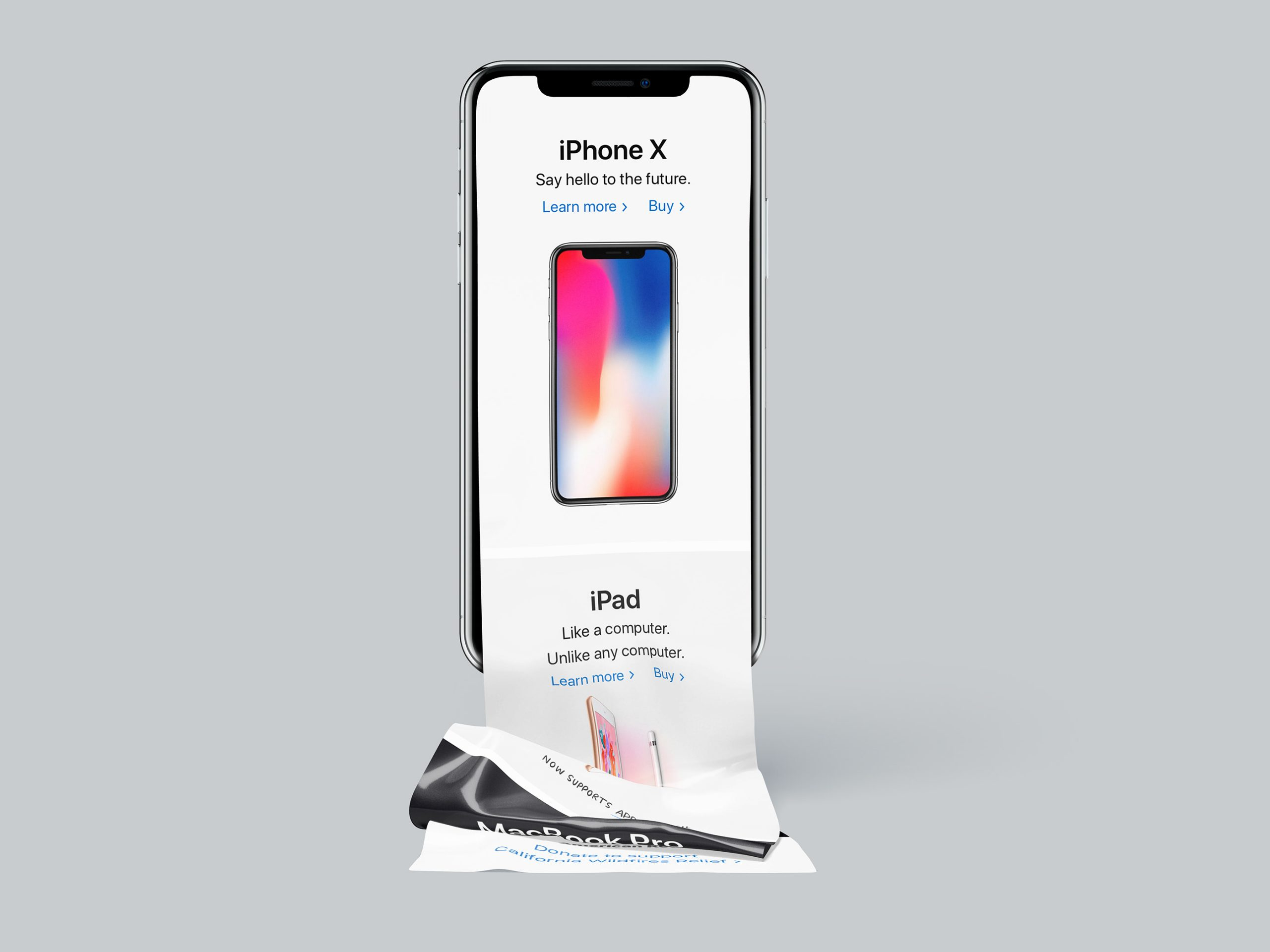 Free Download Scroll iPhone X Mockup PSD2 scaled