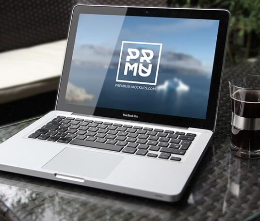 Free Download Table MacBook Pro Mockup PSD