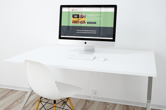 Free Download White Clean Workspace Mockup PSD