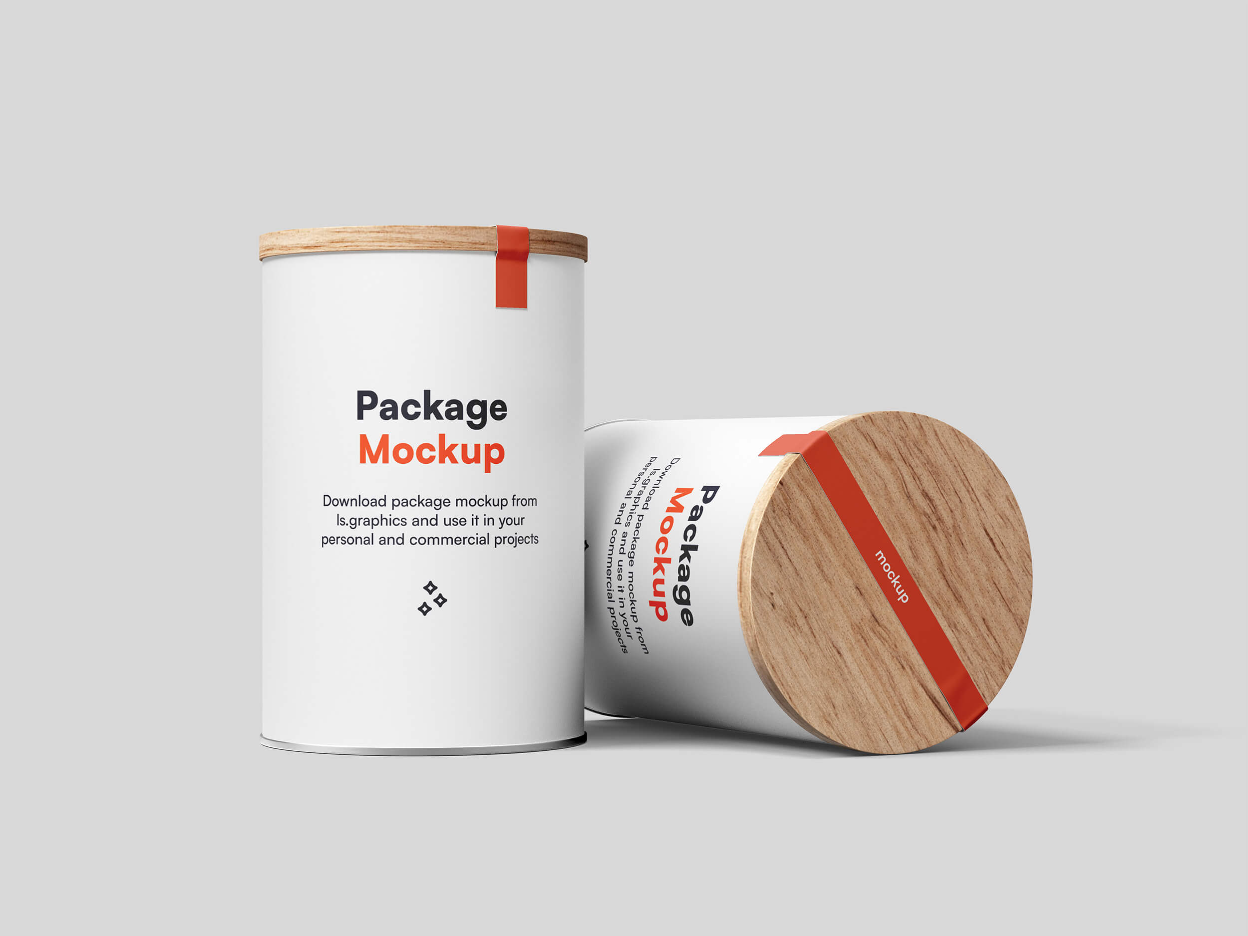 Free Download Wooden Lid Can Mockup PSD