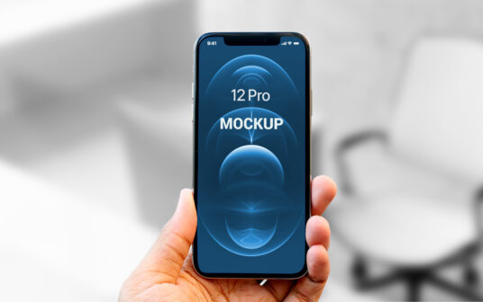 Free Download iPhone 12 Pro Mockup PSD