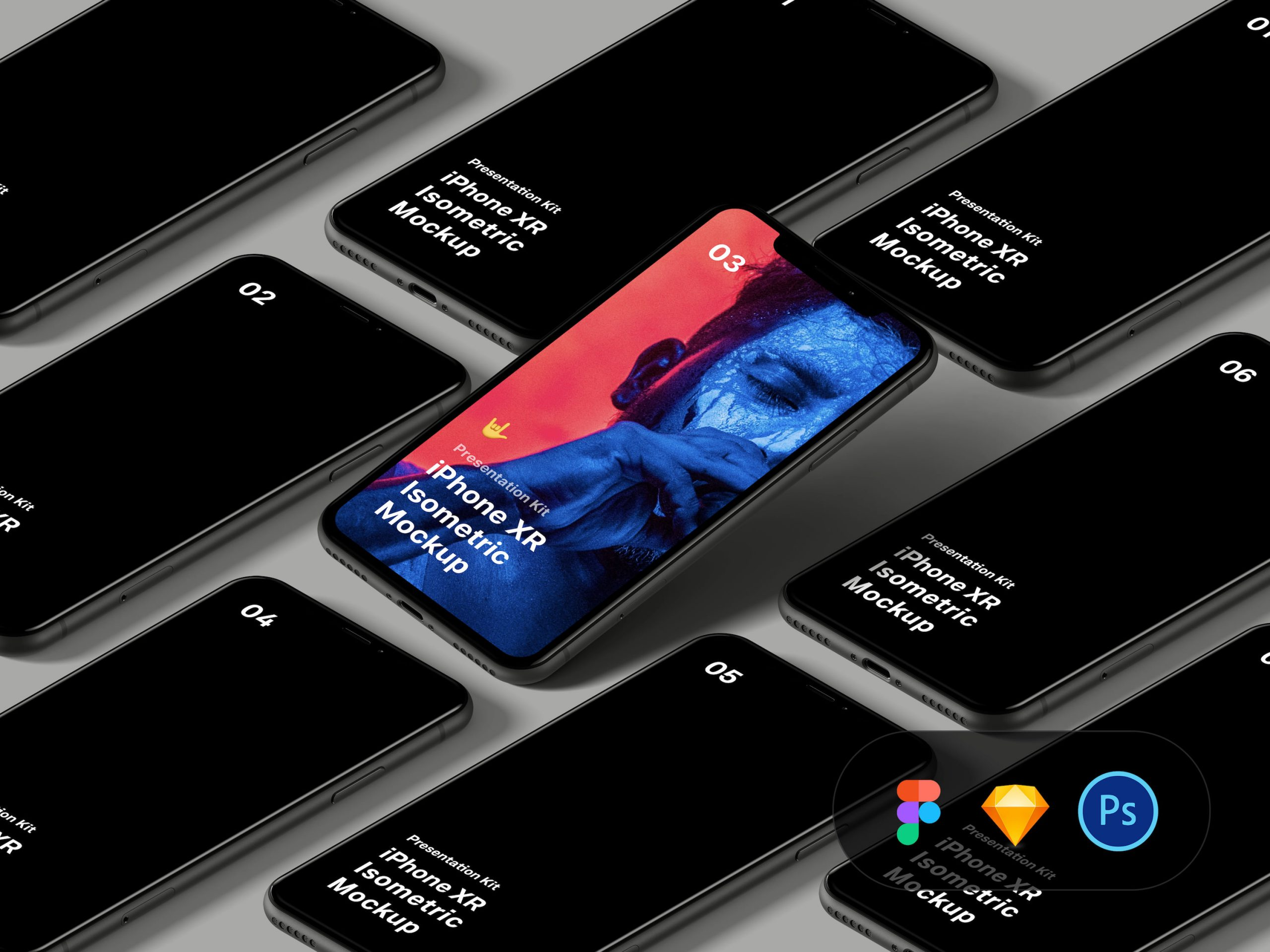 Free Download iPhone XR Mockup PSD