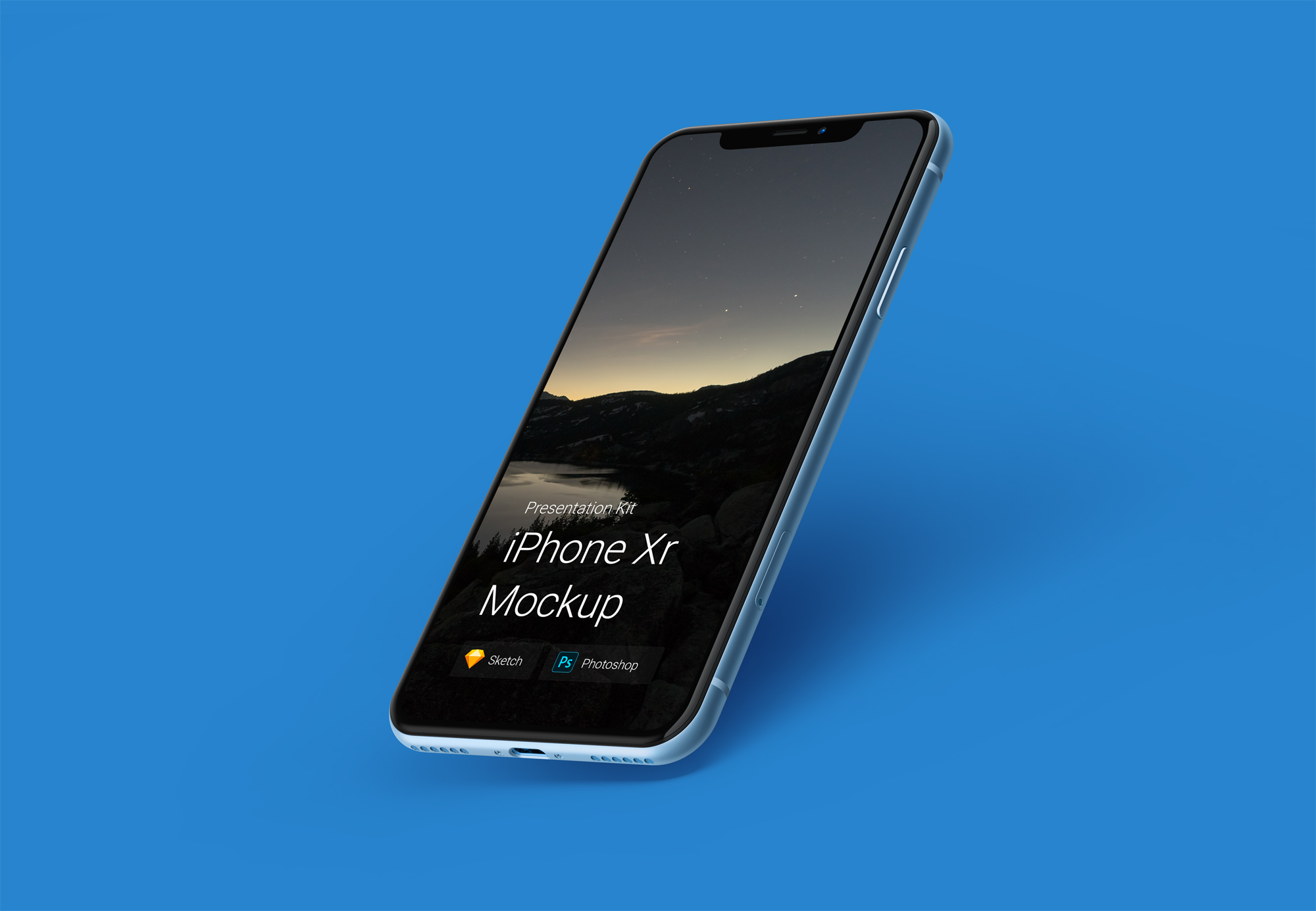 Free Download iPhone XR Mockup Sketch PSD