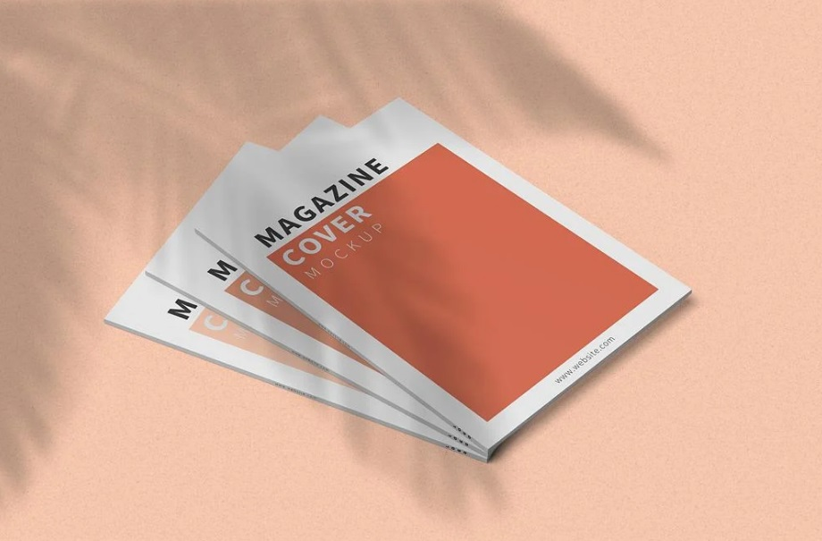 Free Download 3 Magazine Cover Mockup PSD