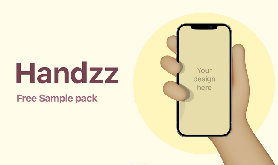 Free Download 3D Hand Holding iPhone Mockup PSD