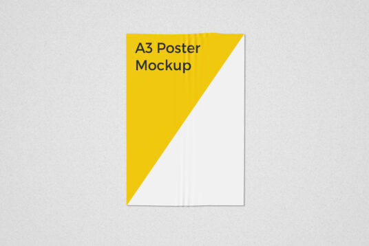 Free Download A3 Poster Mockup PSD
