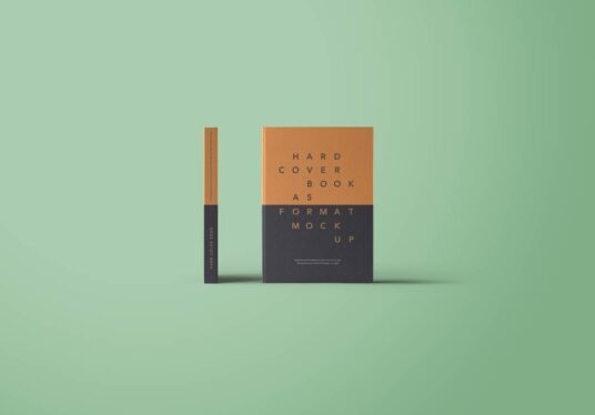 Free Download A5 Size Book Cover Mockup PSD