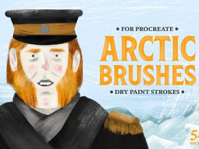 Free Download Arctic Dry Paint Procreate Brushes 1