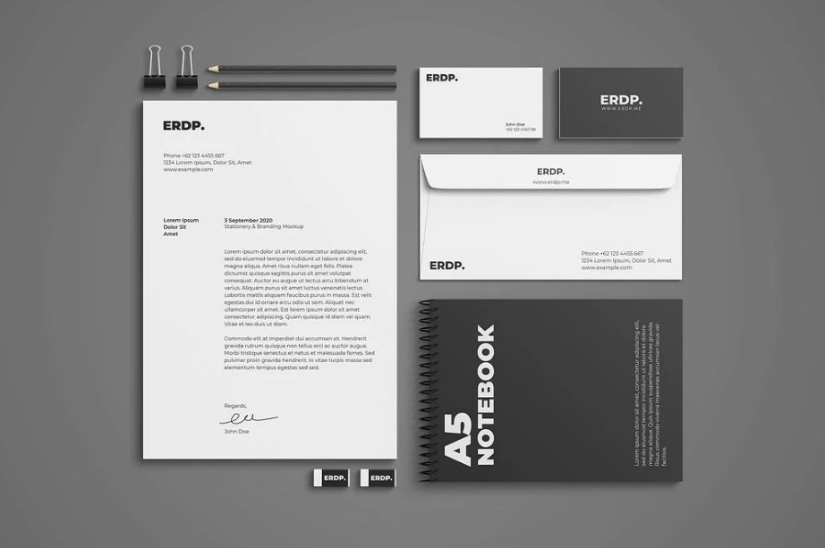 Free Download Business Stationary Mockup PSD