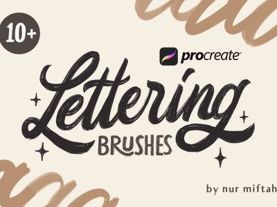 Free Download Calligraphy Procreate Brush 1