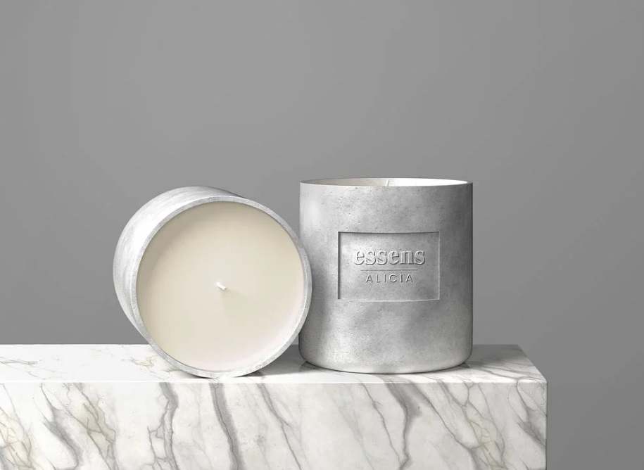 Free Download Candle Brand Packaging Mockup PSD