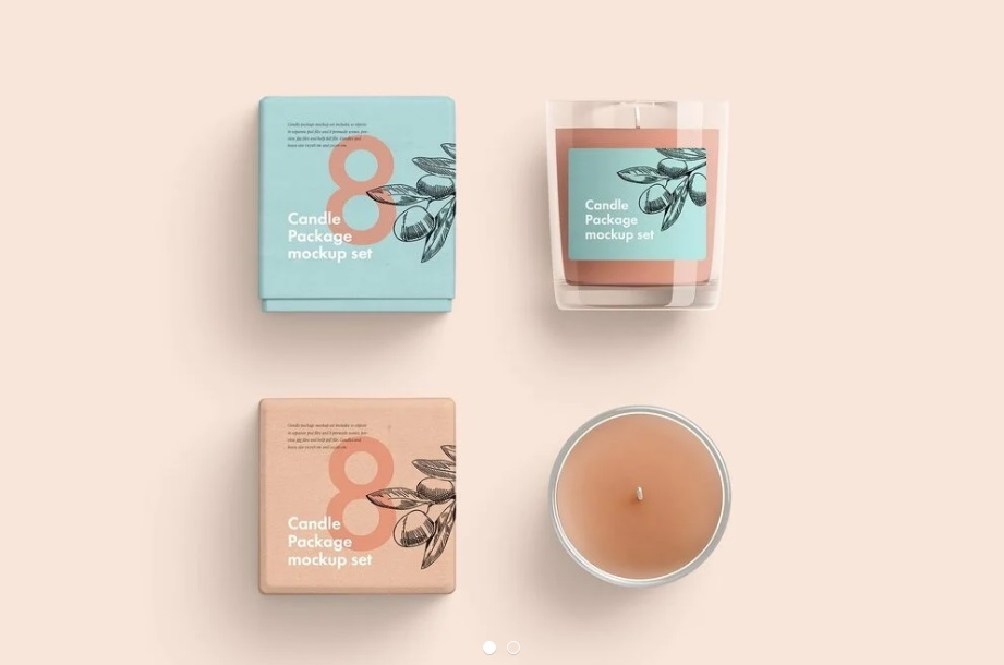 Free Download Candle Glass Packaging Mockup PSD
