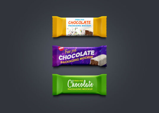 Free Download Chocolate Packaging Mockup PSD