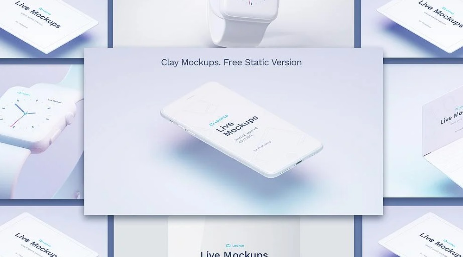 Free Download Clay Devices Mockup Sketch PSD
