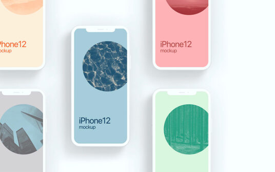 Free Download Clay Style iPhone 12 Mockup PSD