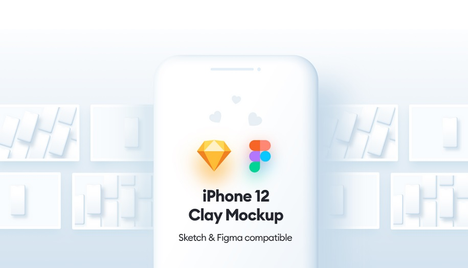 Free Download Clay iPhone Mockup Figma & Sketch