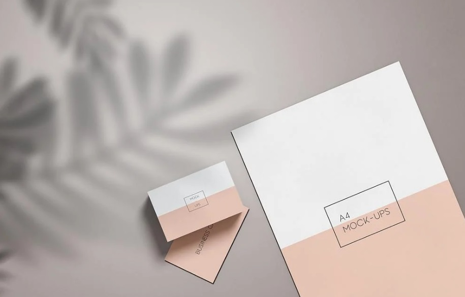 Free Download Clean Business Card and Map Mockup PSD