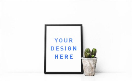 Free Download Clean Realistic Poster Mockup PSD
