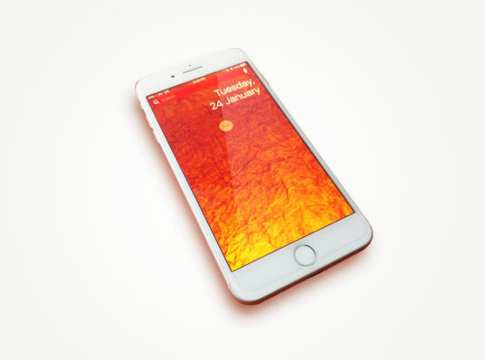 Free Download Clean iPhone Screen Mockup PSD
