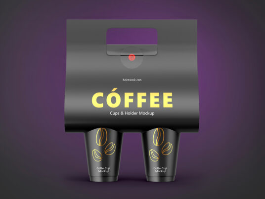 Free Download Coffee Cup Holder Mockup PSD