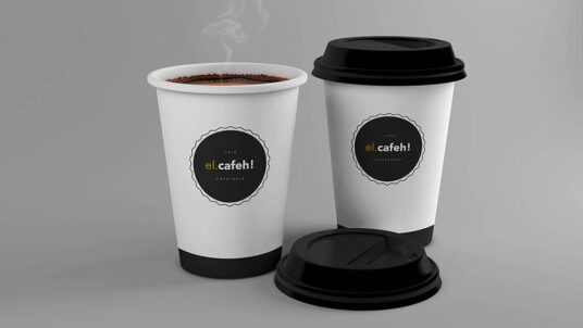 Free Download Coffee on Cup Mockup PSD