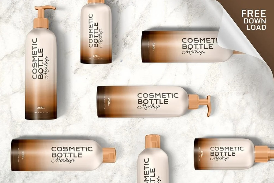 Free Download Realistic Cosmetic Tube Packaging Mockup PSD
