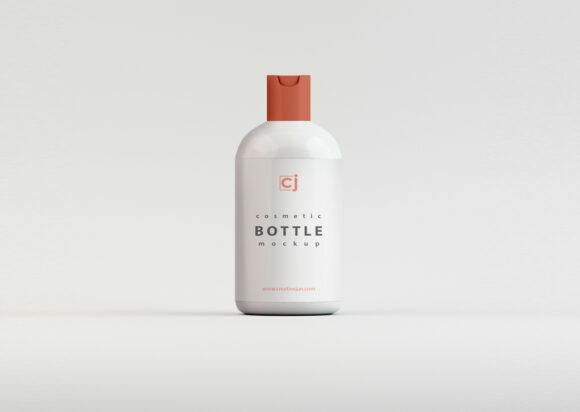Free Download Cosmetic Plastic Bottle Packaging Mockup PSD
