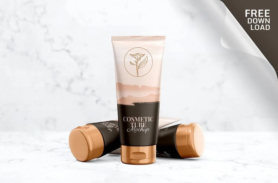 Free Download Cosmetic Tube Packaging Mockup PSD