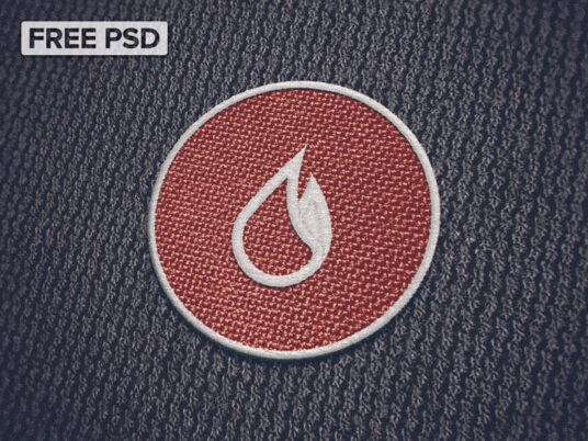 Free Download Fabric Patch Mockup PSD