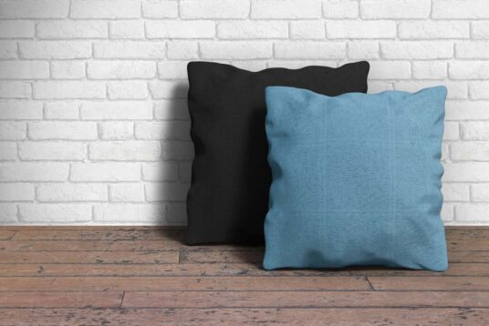 Free Download Fabric Pillow Cover Mockup PSD