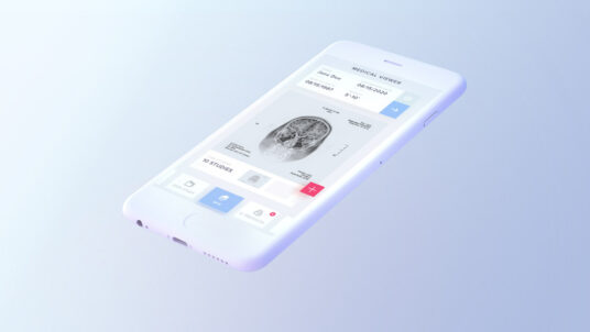 Free Download Floating White iPhone Mockup PSD