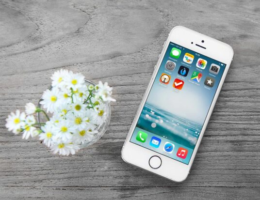 Floral iPhone Screen Mockup PSD