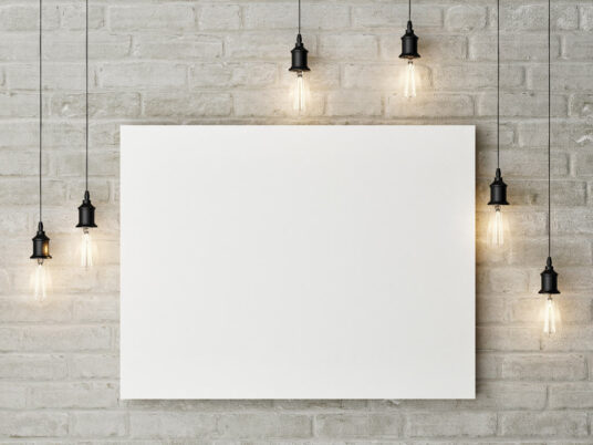 Free Download Frameless Painting Canvas Mockup PSD