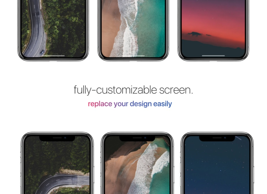Free Download Fully Customizable Screen iPhone Mockup PSD