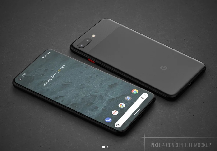 Free Download Google Pixel 4 Android Screen Mockup PSD