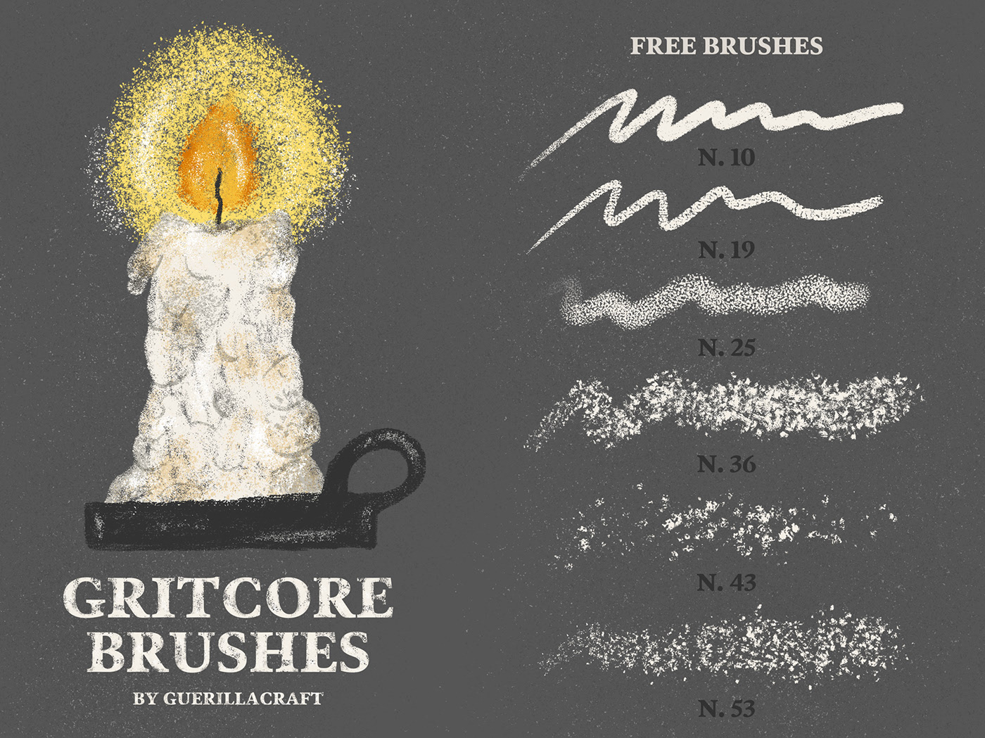 Free Download Gritcore Procreate Brushes 1