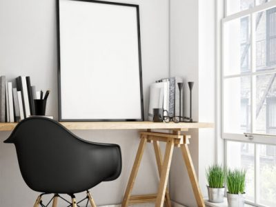 Free Download Home Office Poster Frame Mockup PSD