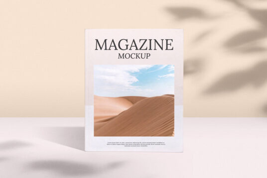 Free Download Magazine Cover Mockup PSD