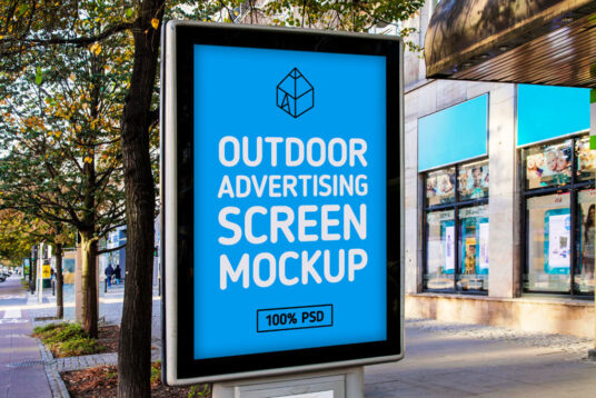 Free Download Outdoor Ads Banner Mockup PSD
