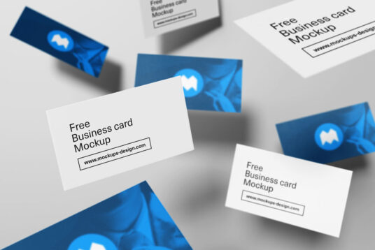 Free Download Professional Business Card Mockup PSD