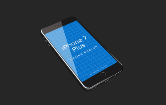 Free Download Realistic iPhone 7 Plus Mockup PSD